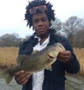 Guest Anthony from Galveston with a nice Lake Fairfield bass that was 1/4