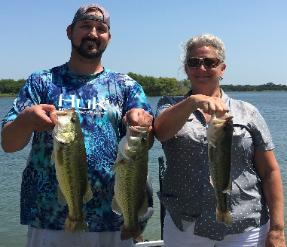 Clint and his mom, Sharon, with the winning stringer on Lake Lewisville!!