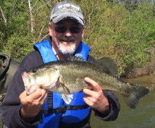David with a nice bass from Sandlin!!