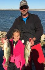 Eric and his daughter with 3rd place and big bass on Lake Grapevine!!
