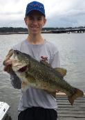 Garrett Gibson with a very nice 9 lb bass to help take 4th place on Lake Palestine!!