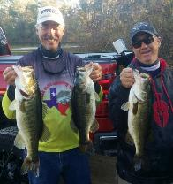 Joey and Mike with some nice bass to take 3rd place on Lake Welsh!!