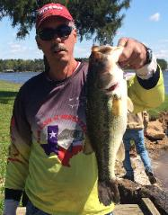 Joey with a nice 5.00 lb bass caught at Cypress to help take 4th place at Bob Sandlin/Cypress Springs