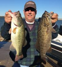 Keith with a couple of beauties from Lake Grapevine!!