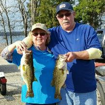 Victor and Pam with 2 nice bass from Fairfield!!