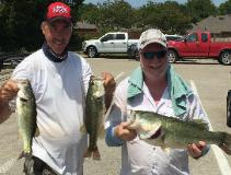 Yancy with a nice 6.25 lb bass to help him and Joey take Big Bass and 1st place at Lake Ray Hubbard!!