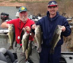 Yancy and Steve with their winning stringer on Sandlin